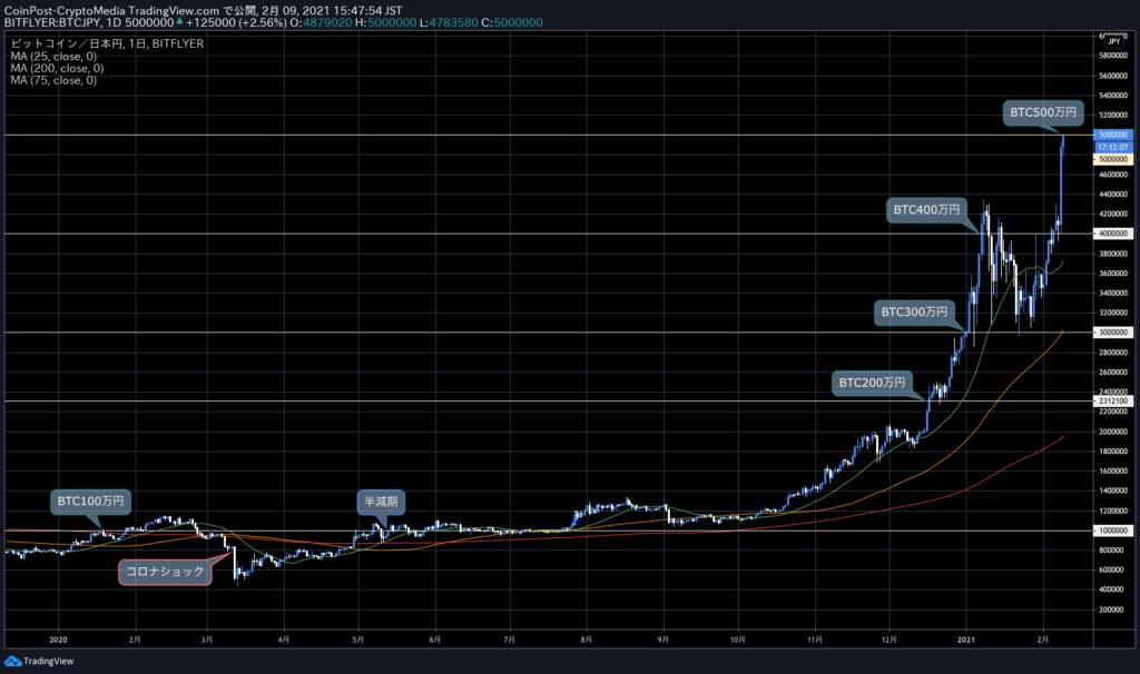 Tesla(テスラ) BitCoin(ビットコイン) 500万円